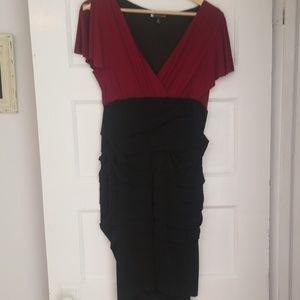 Black and red stretch dress